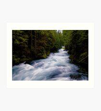 McKenzie River below Sahalie Falls Art Print
