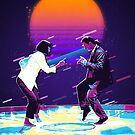 Pulp Fiction Revisited - Urban Neon Vincent Vega and Mia Wallace - The Dance by Serge Averbukh