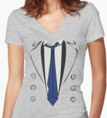 Castiel Trenchcoat Tee Women's Fitted V-Neck T-Shirt