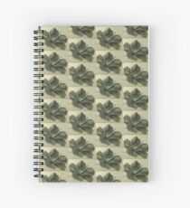 Hibiscus in grey Spiral Notebook