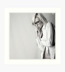 Iveta in white shirt Art Print