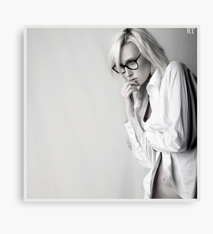 Iveta in white shirt Canvas Print