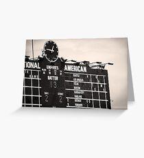 Wrigley Field Scoreboard - 12:46pm Greeting Card