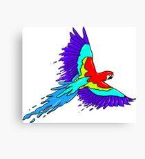 Parrot Paint Canvas Print