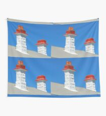 * Schornsteine auf dem Cottage of Lighthouse Keeper in Point Nelson * Wandbehang