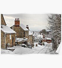Snowscene, Brantingham village, East Yorkshire UK Poster