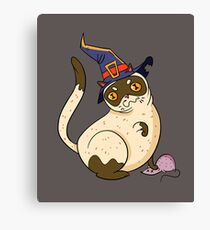 Funny cat kitten halloween costume tee shirts for kids,boys Canvas Print