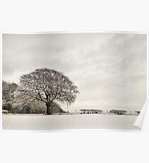 Snowy landscape, Elloughton, East Yorkshire, UK. Poster
