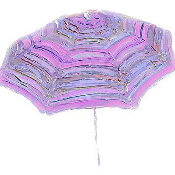 Pink and Purple Umbrella by MatsonArtDesign