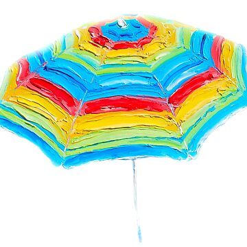 Striped Beach Umbrella by MatsonArtDesign