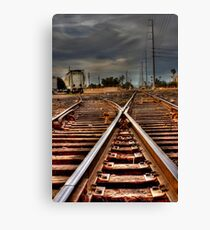 On the Track Canvas Print