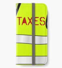 Vinilo o funda para iPhone Impuestos de parada de chaleco amarillo