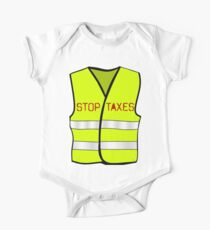 Body de manga corta para bebé Impuestos de parada de chaleco amarillo