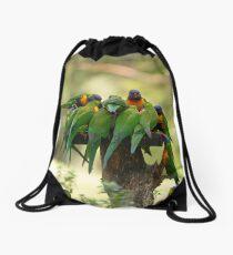 Rainbow Lorikeets Drawstring Bag