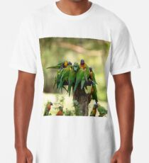 Rainbow Lorikeets Long T-Shirt