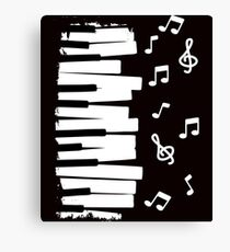 piano music notes gift instrument Canvas Print