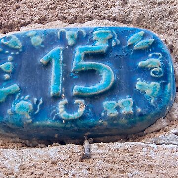 Israel, Jaffa, Ceramic numbers zodiac signs the number fifteen  by PhotoStock-Isra