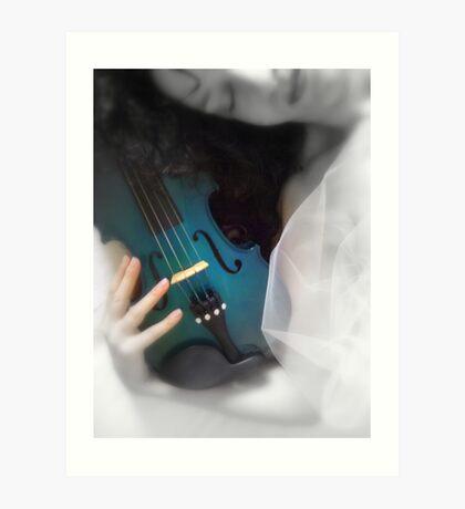 la donna con il violino blu © 2010 patricia vannucci Art Print