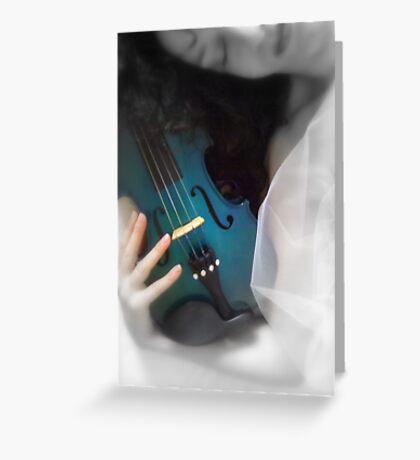la donna con il violino blu © 2010 patricia vannucci Greeting Card