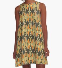 Very Brown Corkish  A-Line Dress