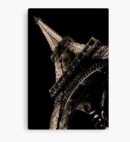 La Tour Eiffel à Nuit Canvas Print