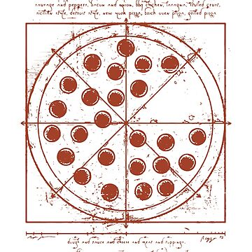 Vitruvian Pizza by MillSociety