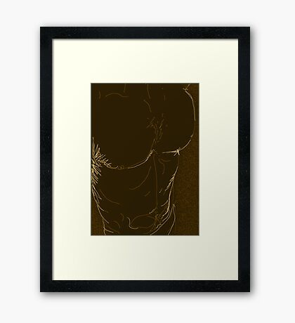 swimmer in dark tones Framed Print