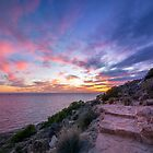 Steps on the Path at Sunset by Ralph Goldsmith