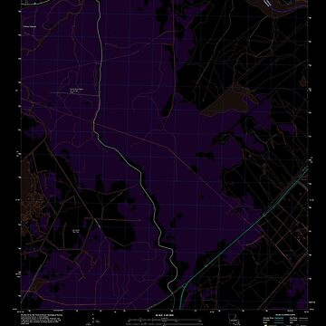 USGS TOPO Map Louisiana LA Bayou Boeuf 20120326 TM Inverted by wetdryvac