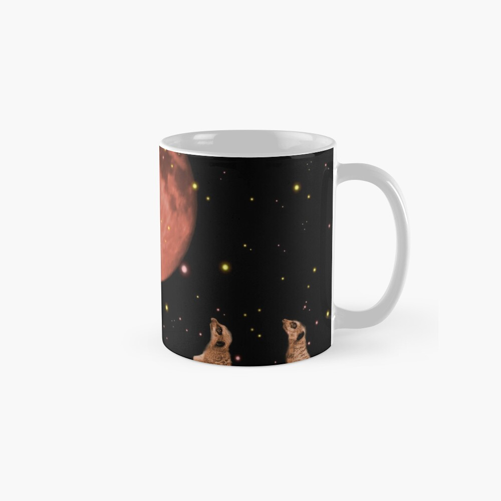Coral meerkat moon Mug