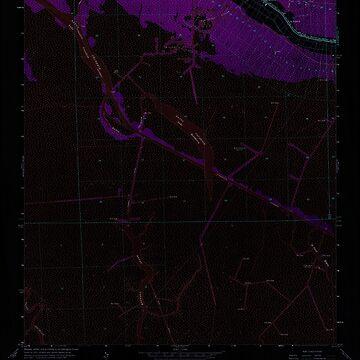 USGS TOPO Map Louisiana LA Bayou Cocodrie 331377 1964 24000 Inverted by wetdryvac