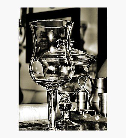 Glass and Pewter Photographic Print