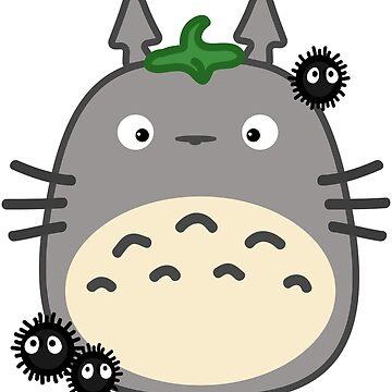 Kawaii Totoro & Susuwatari by EricaRivera