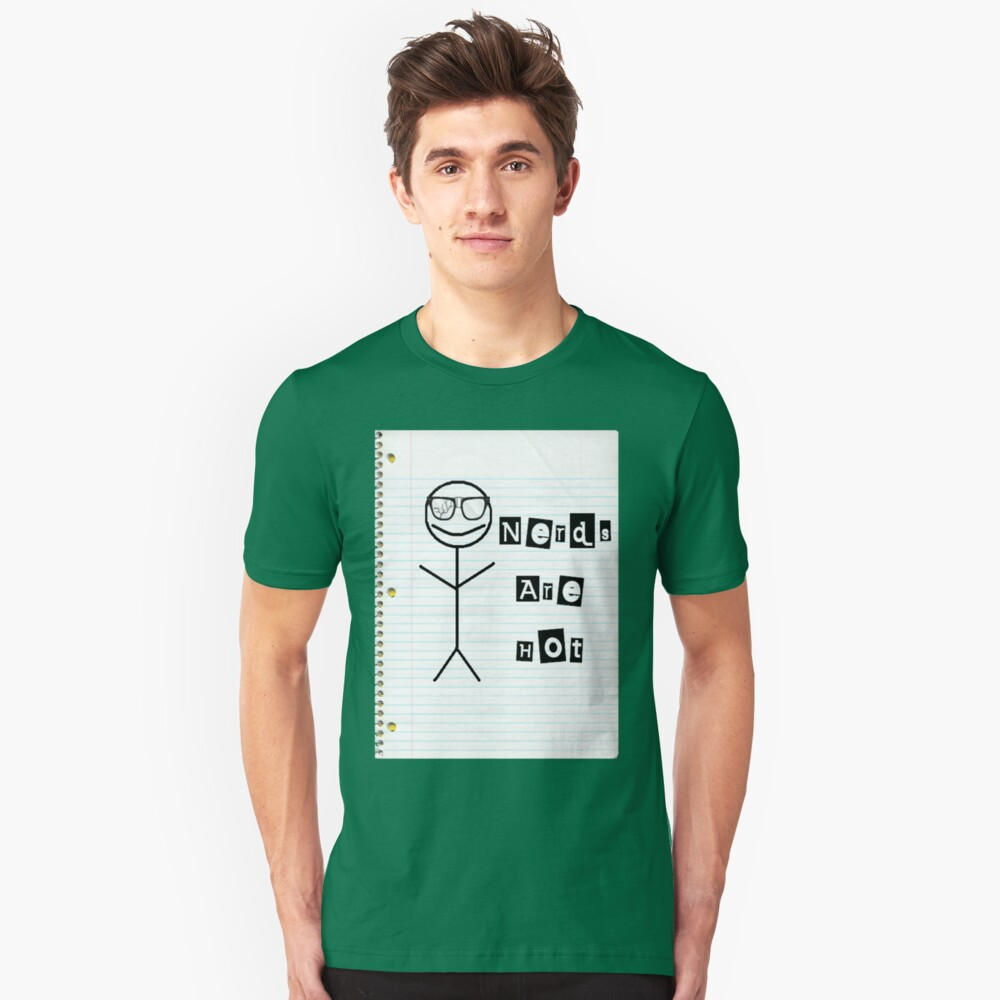 Nerds Are Hot Unisex T-Shirt Front