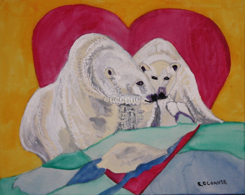 Nose to Nose the kiss   8X10 Acrylic on canvas  by eoconnor
