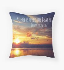Sunsets over the Beaches Throw Pillow
