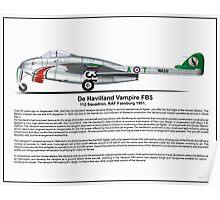 De havilland Vampire FB5 Profile Poster