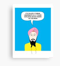 What under the Turban? Canvas Print