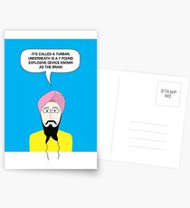 What under the Turban? Postcards
