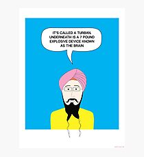 What under the Turban? Photographic Print