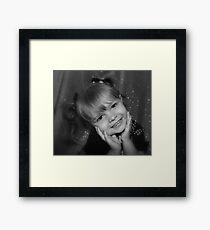 Little Girl Smiling  Framed Print
