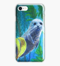 Seal in a Kelp Forest iPhone Case/Skin