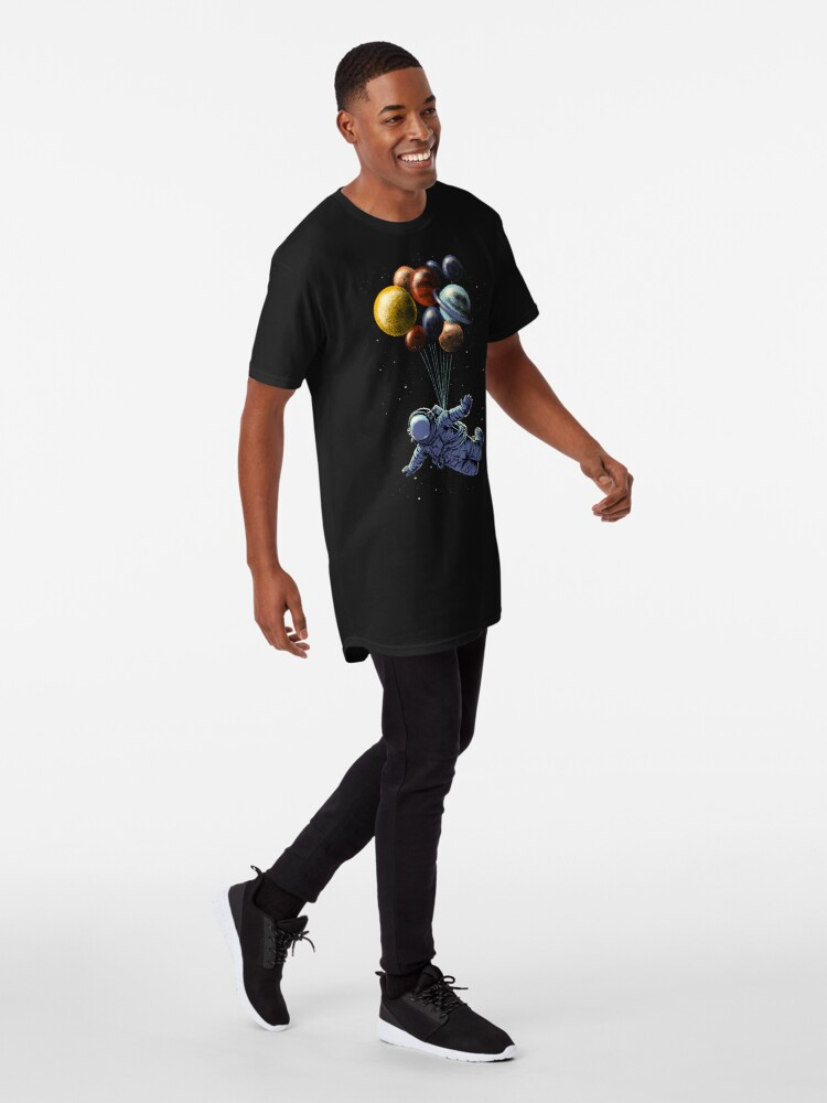 Vista alternativa de Camiseta larga Viaje espacial
