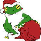 Santa Frog by MyFrogCroaked