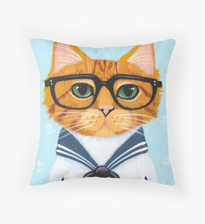 The Little Sailor Throw Pillow