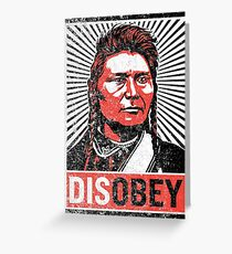 Chief Joseph Disobey Greeting Card
