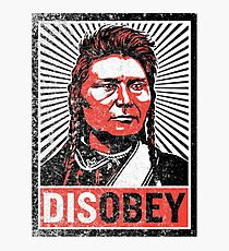 Chief Joseph Disobey Photographic Print