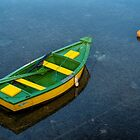 Little boat on still water by I C Images