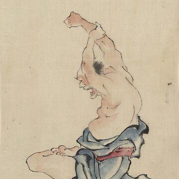 A Man Bare-Chested - Hokusai Katsushika - 1850 by CrankyOldDude