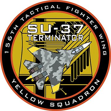 Ace Combat Yellow Squadron Su-37 Terminator Badge by fareast